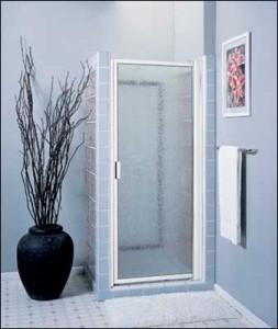 framed hinged shower