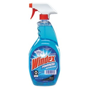 windex to clean glass
